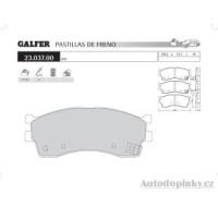 GALFER přední brzdové desky typ FDA 1045 KIA CLARUS 2.0i 16V -- rok výroby 99- ( brzdový systém SUM )