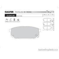 GALFER zadní brzdové desky typ FDA 1045 KIA/OFF-ROAD SORENTO 2.4i 16V -- rok výroby 02- ( brzdový systém SUM )