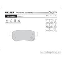 GALFER zadní brzdové desky typ FDA 1045 KIA OPIRUS 3.5i V6 24V -- rok výroby 03- ( brzdový systém SUM )