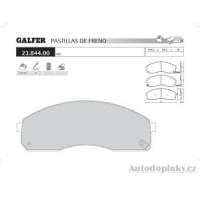 GALFER přední brzdové desky typ FDA 1045 KIA/COMMERCIAL CARNIVAL Van 2.9 TD -- rok výroby 01- ( brzdový systém SUM )