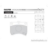 GALFER přední brzdové desky typ FDA 1045 KIA PRIDE 1.1i -- rok výroby 91-02 ( brzdový systém SUM )