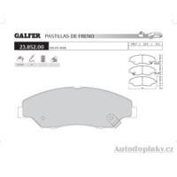 GALFER přední brzdové desky typ FDA 1045 KIA/OFF-ROAD SPORTAGE 2.0 TD -- rok výroby 99- ( brzdový systém SUM )