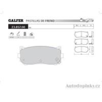 GALFER zadní brzdové desky typ FDA 1045 KIA SEPHIA II 1.8i 16V (Abs) -- rok výroby 00- ( brzdový systém SUM )