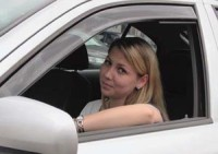ofuky předních oken Kia Rio -- od roku výroby 2006-